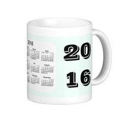2016 Mint Cream Calendar by Janz Coffee Mug