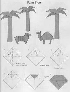 PAPIROFLEXIA PARA TOD@S: PALMERAS Origami 3d, Origami Paper, Iris Folding, Paper Folding, Christmas Nativity, A Christmas Story, Origami Nativity, Diy And Crafts, Paper Crafts