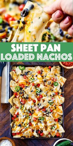 Sheet Pan Nachos - loaded with pantry. Sheet Pan Nachos - loaded with pantry friendly black beans and sweet corn. Mix and match your favorite nacho toppings for a quick meal the whole family will love. Easy Appetizer Recipes, Yummy Appetizers, Dinner Recipes, Yummy Dinner Ideas, Dessert Recipes, Kitchen Recipes, Cooking Recipes, Crockpot Recipes, Cooking Rice