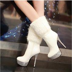 estrella sexy estilete de la plataforma de la moda tacones botas Martin de las mujeres Botas de tacón alto- ericdress.com 10783873