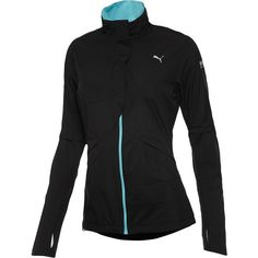 Tech windCELL Running Jacket ($88) ❤ liked on Polyvore featuring activewear, activewear jackets, jackets, workout, athletic, black, outerwear, puma activewear, puma sportswear and athletic sportswear