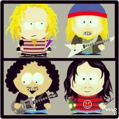 Alice in Chains...South Park Style; via my IG laynestaley.aic.forever