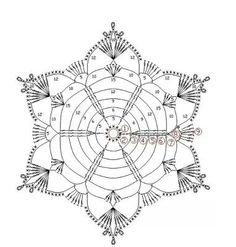 Irish Crochet Patterns, Crochet Snowflake Pattern, Crochet Stars, Crochet Snowflakes, Crochet Diagram, Thread Crochet, Filet Crochet, Crochet Motif, Crochet Doilies