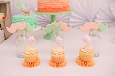 Vintage Peach and Mint Circus Party with Lots of Really Cute Ideas via Kara's Party Ideas Kara Allen KarasPartyIdeas.com #vintagecircusparty #circuscake (12)