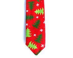 Boys Christmas Neck Tie, Christmas Tree Necktie, Baby Boys, Toddler Boys, Christmas Outfit