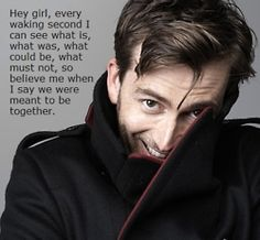 And so goes my unhealthy love for David Tennant as the Doctor.