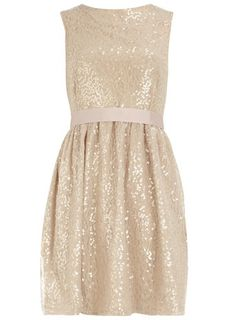 Sequin lace prom dress