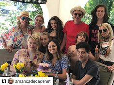 #Repost @amandadecadenet with @repostapp ・・・ Belated Birthday blended family celebration for @atlantabean with her nearest and dearest. 🎂💋#Vic #Zoe #Ella #Silvan #JT #Gela #Nick #Mike #charlotte