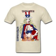T-Shirts ~ Men's T-Shirt ~ Zombie Patriot Samantha: CloseUp Flamed Horror Music, Cool Designs, Angels, Mens Tops, T Shirt, How To Wear, Clothes, Tee, Clothing