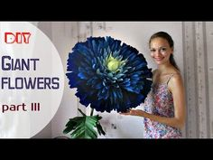 Free Standing Giant Flower | Giant Paper Roses. Part 1 - YouTube