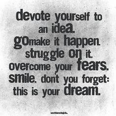 Go make it happen. http://feelingandloving.tumblr.com/