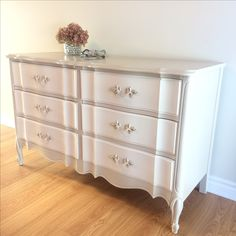 Soft naturals , French Provincial dresser.