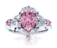 My Fair Lady Rare. Fancy Intense Pink Natural Australian Argyle Pink Diamond Ring - if you're going to go with bling let it be something this gorgeous! Pink Diamond Ring, Diamond Wedding Rings, Diamond Jewelry, Jewelry Rings, Fine Jewelry, Pink Sapphire, Pink Ring, Jewellery, Wedding Bands