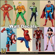 Decorating theme bedrooms - Maries Manor: Superheroes bedroom ideas - batman - spiderman - superman decor - Captain America - comic book bedding - batmobile bed