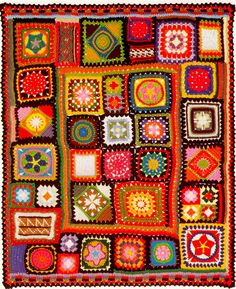 Beautiful crochet Blanket  Granny Squares Afghan  Throw Crochet Pattern  - PDF -  EMail download. £1.95, via Etsy.