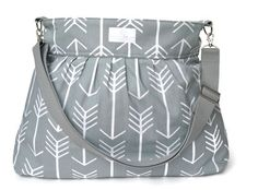 RESERVED Gray Arrow X Large Diaper Bag  - Stroller Bag - Bags and Purses - Baby Bag