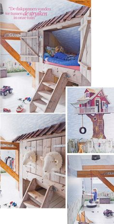 Boy room from house of Jose Stoop, from magazine Ariadne at Homekinderen
