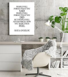 Maya Angelou Quote Wall Art Digital Download Printable by KNS Digital #mayaangelou #inspirationalquotes #instantofficedecor #minimaliststyle #typographywallprints #digitalprintable #feministart #femaleempowerment #strongwomen #iconicwomen