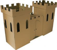 Kid-eco Cardboard Castle Brown FREE P to UK Mainland