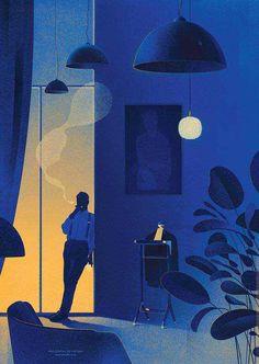 Imgur Post - Imgur Shadow Illustration, Night Illustration, Graphic Design Illustration, Digital Illustration, Graphic Novel Art, Portrait Illustration, Mad Men Poster, Creative Industries, Texture Vector