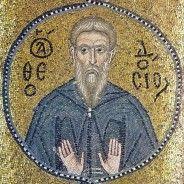 Theodosius the Great (living icon, century) Theodosius the Cenobiarch ( c. AD) was a monk , abbot , and saint who w. Catholic News, Catholic Saints, Roman Catholic, Religious Icons, Religious Art, Sainte Cecile, Palestine Art, Lives Of The Saints, Small Icons