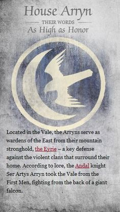 House Arryn - Game of Thrones