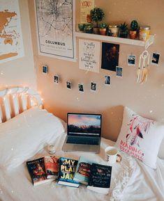 51 Ideas For Bedroom Goals Boho Dorm Room Bedroom Inspo, Home Decor Bedroom, Living Room Decor, Bedroom Ideas, Warm Bedroom, Bedroom Inspiration, Bedroom Furniture, Ikea Bedroom, Bedroom Bed