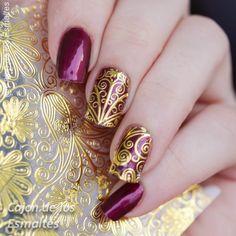 1 Blatt Geprägte Blume 3D Nagel Aufkleber Blühende 3D Nail art Aufkleber Decals # BP052 #24911