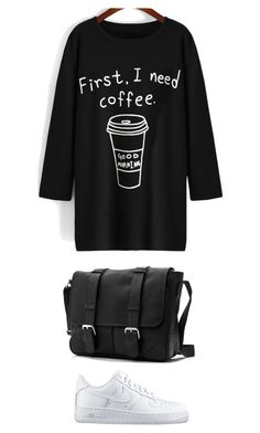 """""""Untitled #417"""" by szintia-andreea ❤ liked on Polyvore featuring NIKE, women's clothing, women, female, woman, misses and juniors"""