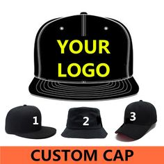 Wholesale 500 pcs Adult Customized Baseball caps LOGO Embroidery snapback cap Customized hats ship Via DHL, FEDEX,UPS-in Baseball Caps from Men's Clothing & Accessories on Aliexpress.com | Alibaba Group