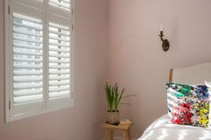 Camborne Road by Plantation Shutters Ltd Valance Curtains, Style Board, House Styles, Curtains, Minimalism, White Shutters, Home Decor, Home Styles, Designers Guild