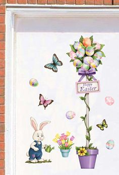 Easter Spring Garage Door Magnets Set