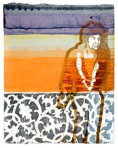 Maurice Christo van Meijel: zonder titel (2005) inkt en potlood op papier, 97 x 77 cm. (collectie SBK Amsterdam)