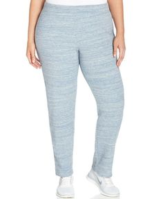 Style & Co Plus Size 3X BLUE MARLED Comfort Active Casual Pants $59.50 - NWT #STYLECO #ComfortActiveCasual