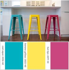 Go Bright Go Colorful Each Metal Stool Is Painted Upon Order