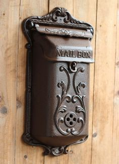 iron mailbox on sale at reasonable prices, buy Vintage fashion iron mailbox pillar-box wrought iron decoration 1308 from mobile site on Aliexpress Now! Antique Mailbox, Old Mailbox, Vintage Mailbox, Mailbox Ideas, Wall Mount Mailbox, Mounted Mailbox, Vintage Mode, Vintage Shops, Security Mailbox
