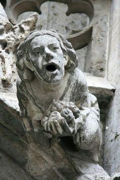Close up de détails d'une gargouille gothique sur New Town Hall (Munich, Allemagne). Banque d'images