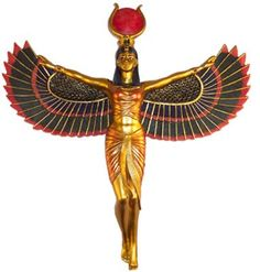 Isis- Egyptian Goddess and Mother of the Universe. Goddess of love, family, fertility, healing, medicine and magick.