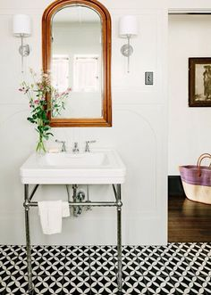 FOCUS: console sink for powder room