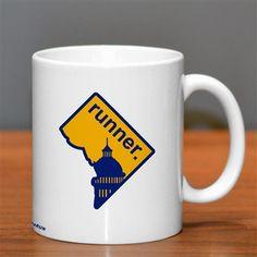 District of Columbia Runner Ceramic Mug - Show off your pride for District of Columbia with this great District of Columbia Runner Ceramic Coffee Mug.
