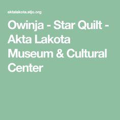 Owinja - Star Quilt - Akta Lakota Museum & Cultural Center Star Blanket, Plains Indians, Historical Artifacts, Cultural Center, Knowledge, Museum, Culture, Quilts, Education