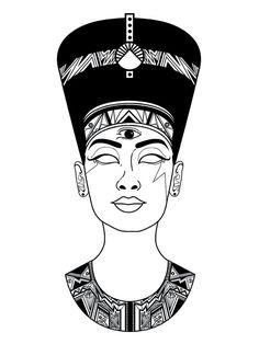 Not Nefertiti. Not Nefertiti. Not Nefertiti. - Not Nefertiti. Not Nefertiti. Not Nefertiti. Tattoo Sketches, Tattoo Drawings, Art Sketches, Art Drawings, Line Tattoos, Body Art Tattoos, Script Tattoos, Flower Tattoos, Arabic Tattoos