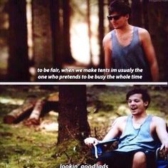 Probably one of my favorite parts << We went camping right after me and my sister watched this and she did this to us... I couldn't be mad, cause it was so funny xD No one understood our quotes ;)