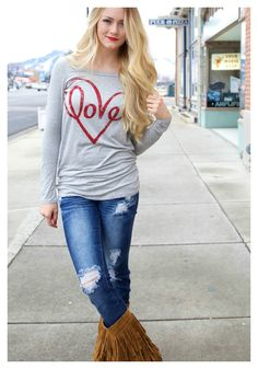 Also available in GRAY!! Love tops are going FAST!!