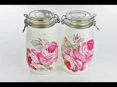 DECOUPAGE tutorial jars for spices ------- DIY By Catherine :) - YouTube