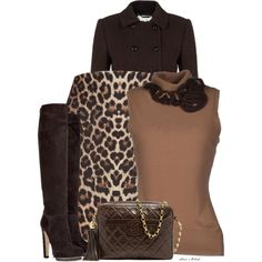"""""""Animal print skirt 2"""" by sonies-world on Polyvore 50 Fashion, Office Fashion, Work Fashion, Skirt Fashion, Fashion Outfits, Womens Fashion, Style Fashion, Leopard Print Outfits, Leopard Print Skirt"""