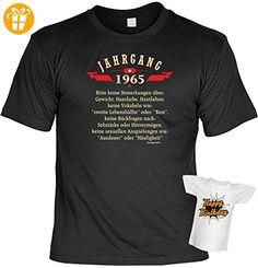 cooles Fun-T-Shirt zum 50. Geburtstag Jahrgang 1965 für Damen Herren, Farbe schwarz, ideal als Geschenk - T-Shirts mit Spruch | Lustige und coole T-Shirts | Funny T-Shirts (*Partner-Link)