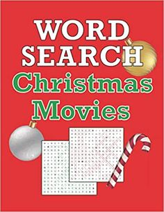 Amazon.com: Word Search: Christmas Movies: Movie Word Find Puzzle with Trivia and Quotes, Gift for Adults and Teen Puzzlers. 50 pleasantly challenging puzzles in large, easy-to-read type for hours of merry puzzling! Enjoy hunting through popular holiday favorites across the decades, including A Christmas Story, Elf, It's a Wonderful Life, Home Alone, Rudolph, The Grinch, Love Actually, Christmas Vacation, A Charlie Brown Christmas, Santa Claus is Coming to Town, Arthur Christmas, and many… Unique Gifts For Mom, Creative Gifts, Cute Gifts, Funny Gifts, Best Christmas Gifts, Christmas Movies, Search Books, Word Search Games, Card Ideas