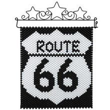 Route 66 banner made with pony beads. It only took a few hours to complete.