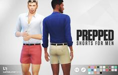 Prepped Shorts for males at LumiaLover Sims via Sims 4 Updates